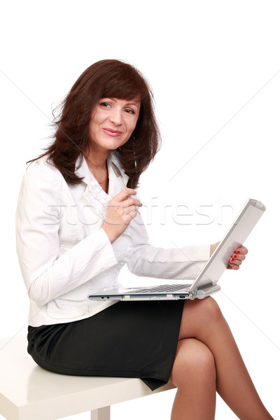 The cheerful business-woman Stock photo © krugloff