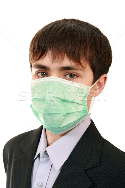 Pupil in a medical mask  Stock photo © krugloff
