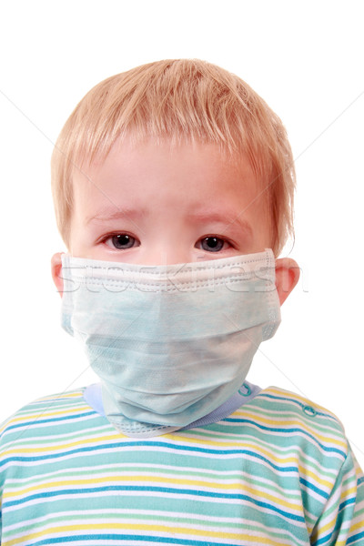 Two-years kid in a medical mask  Stock photo © krugloff