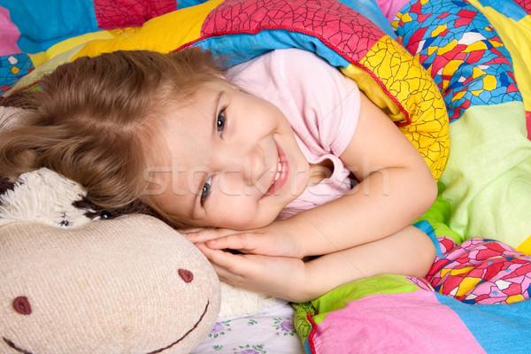 Kellemes álmok évek lány alszik ötletek Stock fotó © krugloff