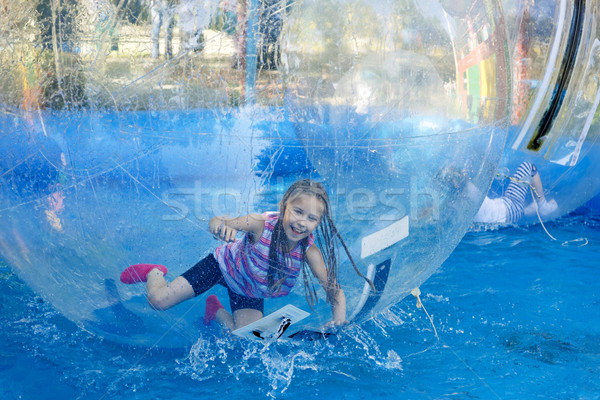 Fille vitesse eau enfant Photo stock © krugloff