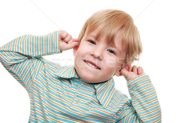 Erkek çocuk eller gözler çocuk Stok fotoğraf © krugloff