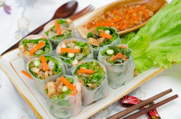 Vietnamese fresh spring rolls. Stock photo © kttpngart