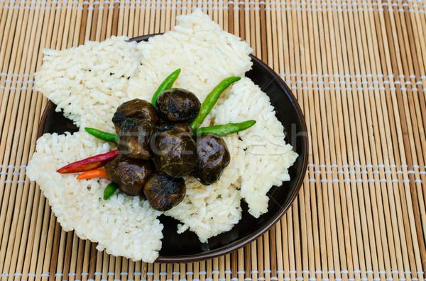 Rijst hartig vulling voedsel licht Stockfoto © kttpngart