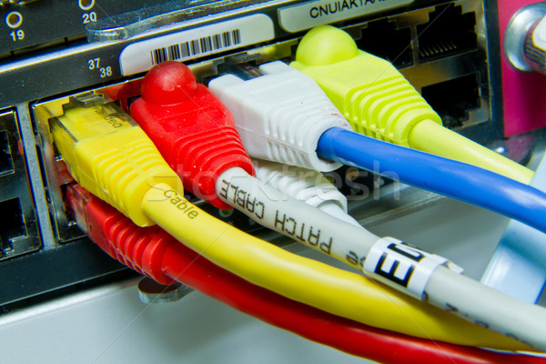 Ethernet kablolar labirent bilgisayar web trafik Stok fotoğraf © kubais