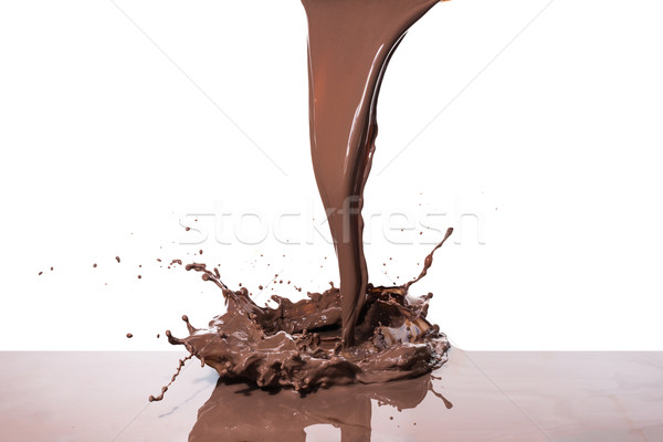 Cioccolata calda splash isolato bianco texture Foto d'archivio © kubais