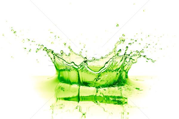 Wapno pić splash biały owoców tle Zdjęcia stock © kubais
