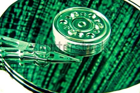 Computer Festplatte Festplatte grünen abstrakten Stock foto © kubais