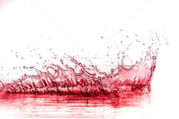Stock fotó: Vörösbor · csobbanás · izolált · fehér · víz · bor