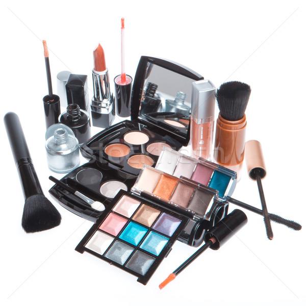 Ingesteld cosmetische make producten geïsoleerd witte Stockfoto © kubais