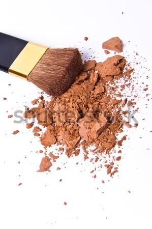 Fard à paupières isolé blanche texture oeil mode Photo stock © kubais