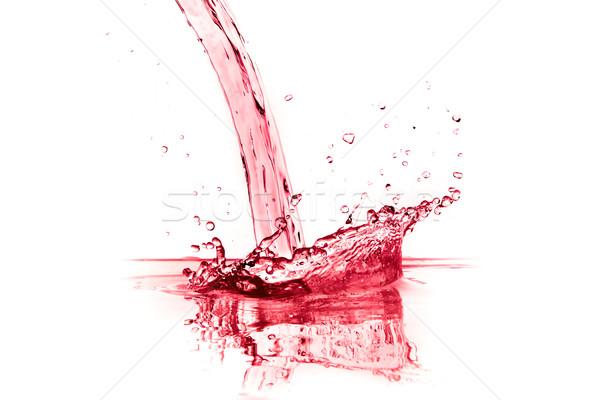Vinho tinto salpico isolado branco água vinho Foto stock © kubais