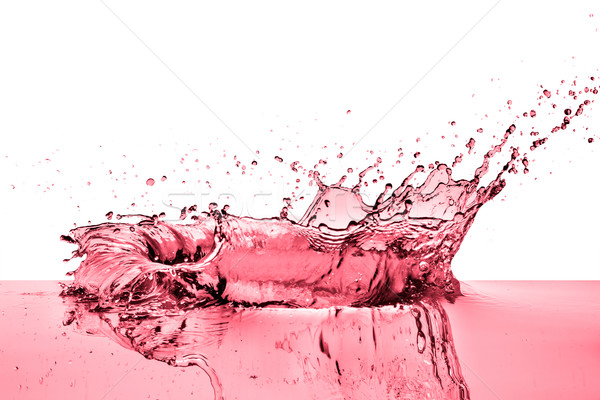splashing red wine Stock photo © kubais