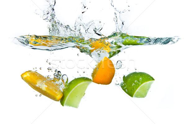 Citrus fruit geïsoleerd witte natuur vruchten Stockfoto © kubais