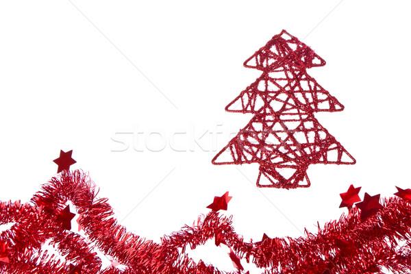 Noel ağaç kâğıt soyut dizayn arka plan Stok fotoğraf © kubais