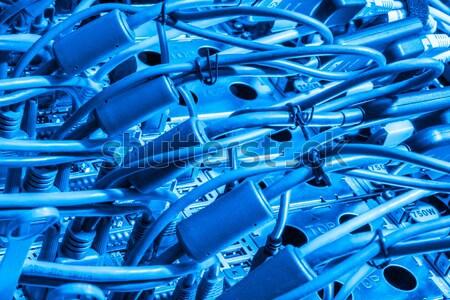 Veri merkezi donanım arka yan depolama Stok fotoğraf © kubais