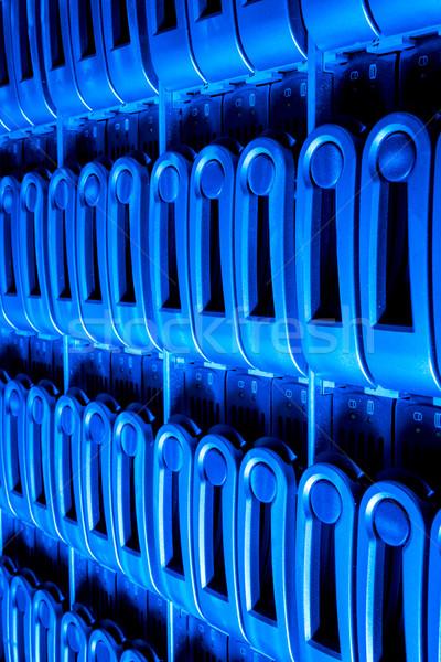 Adatközpont részlet szerver hálózat háló kék Stock fotó © kubais