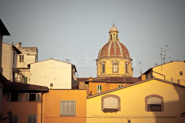 Toscano arquitetura histórica exemplo italiano cidade casa Foto stock © kubais