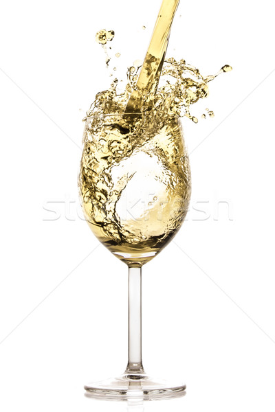 Stockfoto: Witte · wijn · splash · geïsoleerd · witte · abstract · drinken