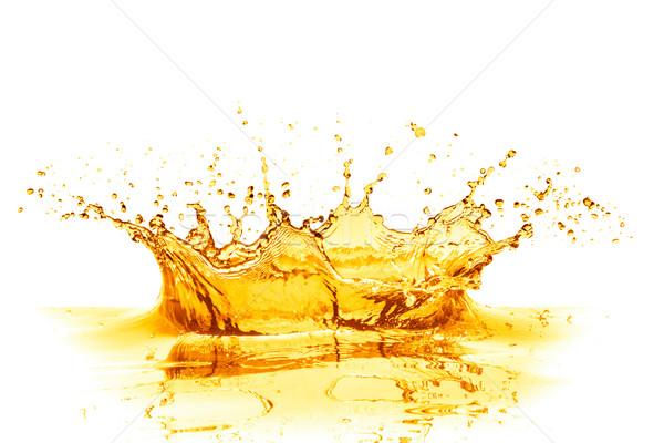 Suco de laranja salpico isolado branco comida fruto Foto stock © kubais