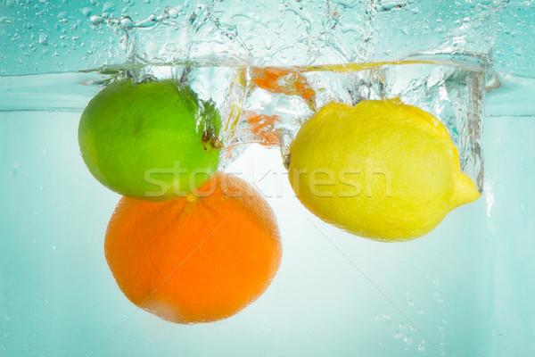 citrus fruit splashing Stock photo © kubais