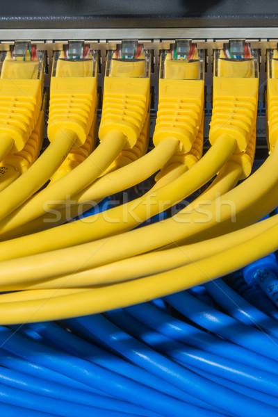 Netwerk kabels schakelaar hardware Stockfoto © kubais