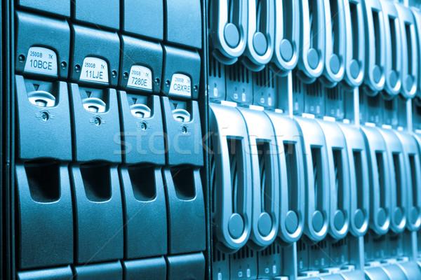 Adatközpont részlet üzlet internet biztonság kék Stock fotó © kubais