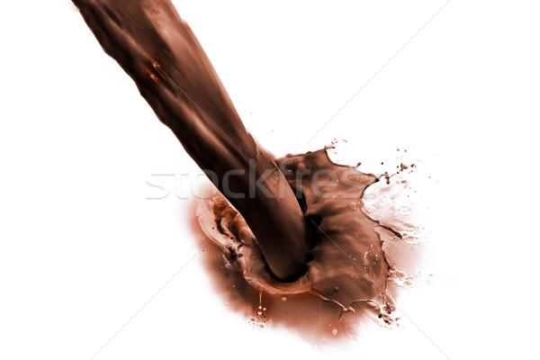 çikolata süt içmek yalıtılmış beyaz Stok fotoğraf © kubais