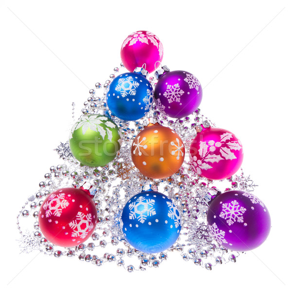 Christmas Snowflake symbolika odizolowany biały Zdjęcia stock © kubais