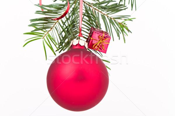 Natal decoração árvore de natal fundo cor branco Foto stock © kubais