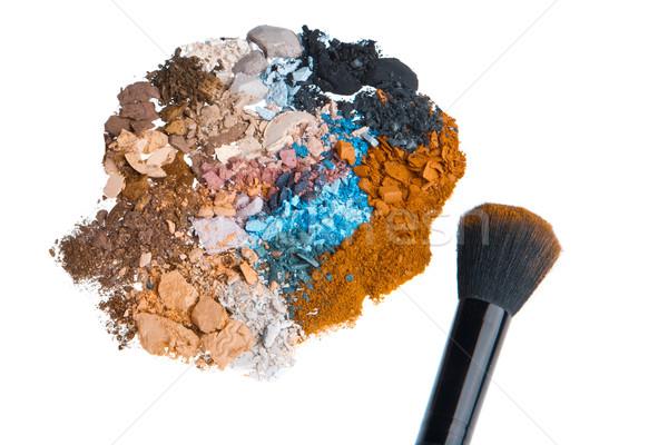 Brosse isolé blanche oeil visage Photo stock © kubais