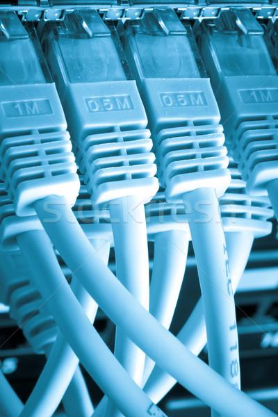 Sieci kabli technologii kabel komunikacji Zdjęcia stock © kubais