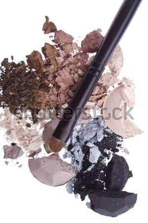 Ecset izolált fehér textúra szem arc Stock fotó © kubais