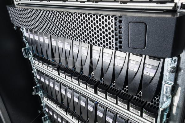 Centro de datos primer plano Internet tecnología servidor red Foto stock © kubais