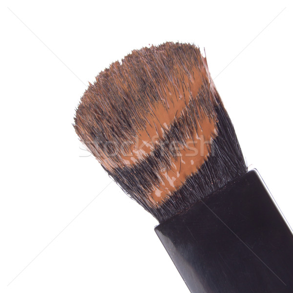 Maquillaje base cepillo líquido aislado blanco Foto stock © kubais