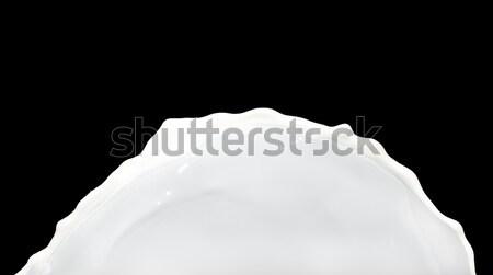 Süt sıçrama yalıtılmış siyah gıda doğa Stok fotoğraf © kubais
