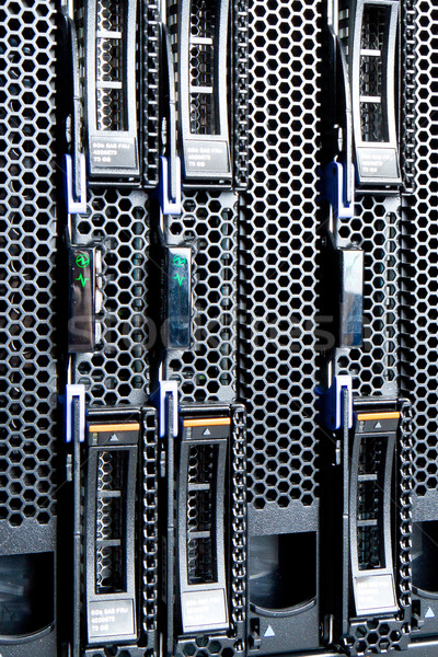 центр обработки данных подробность Жесткий диск сервер сеть Сток-фото © kubais