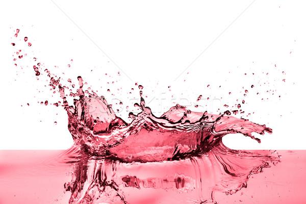 Csobbanás vörösbor fehér bor absztrakt háttér Stock fotó © kubais