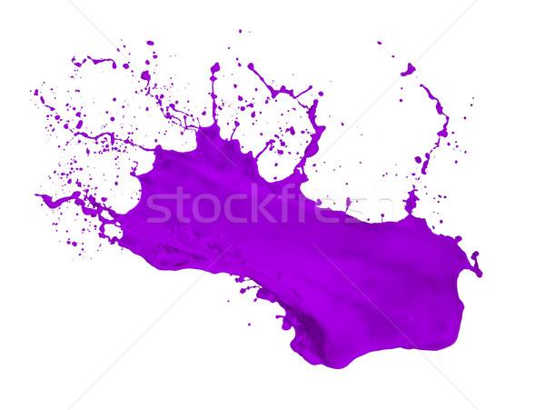 purple paint splash Stock photo © kubais