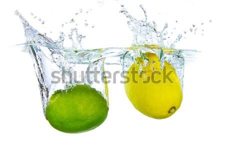 lemon in water Stock photo © kubais