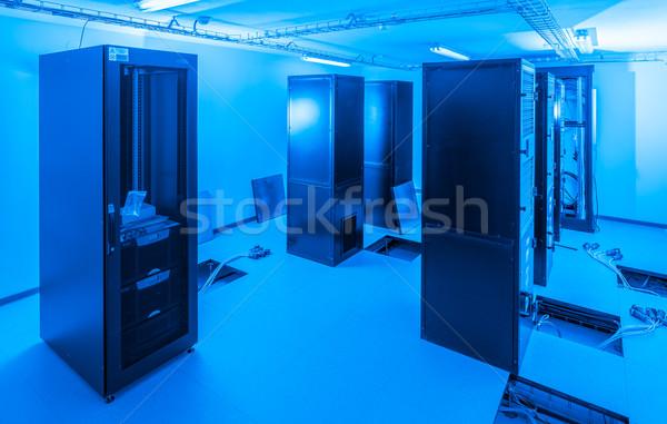 Server kamer veiligheid netwerk Blauw Stockfoto © kubais