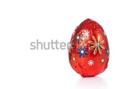 Сток-фото: шоколадом · пасхальных · яиц · изолированный · Пасху · цветок · весны