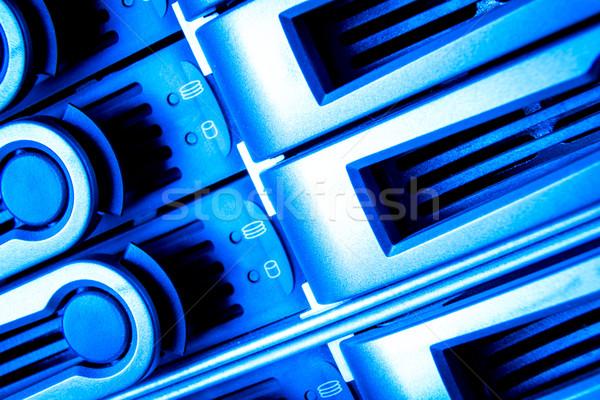 центр обработки данных подробность бизнеса интернет безопасности синий Сток-фото © kubais