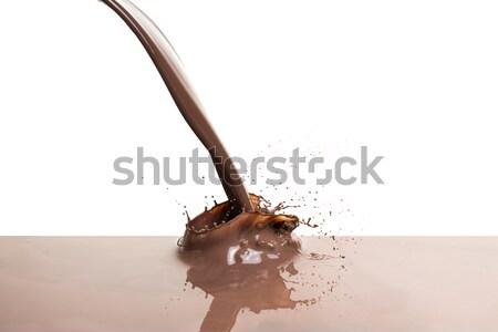melted dark chocolate Stock photo © kubais