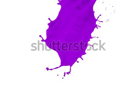 Magenta festék csobbanás izolált fehér szín Stock fotó © kubais
