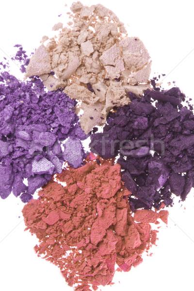 Brosse isolé blanche texture oeil visage Photo stock © kubais