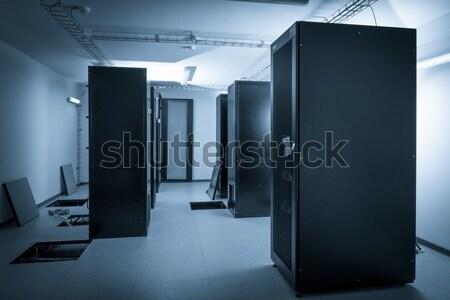 Szerver szoba adatközpont építkezés biztonság hálózat Stock fotó © kubais