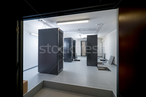 сервер комнату центр обработки данных двери безопасности сеть Сток-фото © kubais