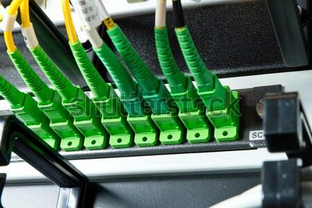 fiber network server Stock photo © kubais