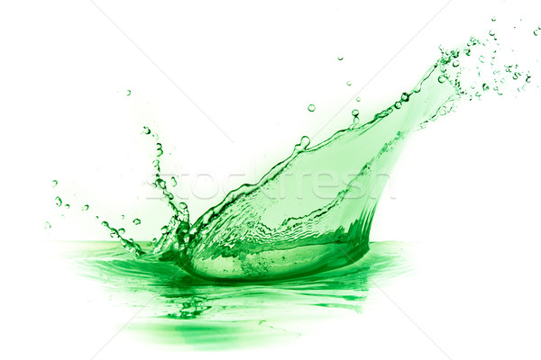 Verde líquido Splash blanco agua alimentos Foto stock © kubais